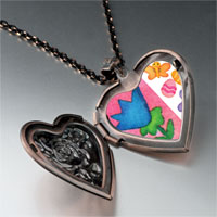 Necklace & Pendants - flowers butterfly easter eggs heart locket pendant necklace Image.