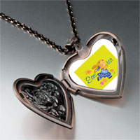 Necklace & Pendants - easter bunny yellow heart locket pendant necklace Image.