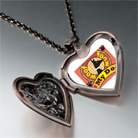 Necklace & Pendants - love dog pink heart locket pendant necklace Image.