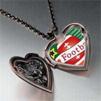 Necklace & Pendants - heart football heart locket pendant necklace Image.