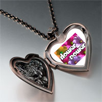Necklace & Pendants - flower power by amber heart locket pendant necklace Image.