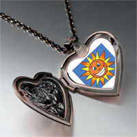 Necklace & Pendants - smiling sunshine by amber heart locket pendant necklace Image.