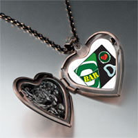 Necklace & Pendants - love bar heart locket pendant necklace Image.