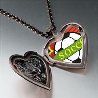 Necklace & Pendants - heart soccer sport heart locket pendant necklace Image.
