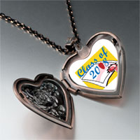 Necklace & Pendants - class 2008  diploma graduation heart locket pendant necklace Image.