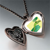 Necklace & Pendants - jumping frog heart locket pendant necklace Image.