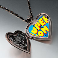 Necklace & Pendants - super mom photo heart locket pendant necklace Image.