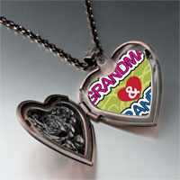 Necklace & Pendants - love grandpa &  grandma heart locket pendant necklace Image.