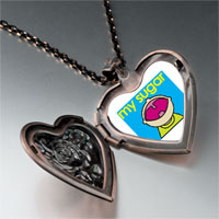 Necklace & Pendants - happy kid sugar heart locket pendant necklace Image.