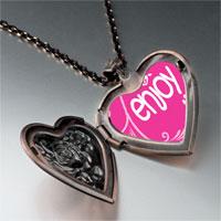 Necklace & Pendants - enjoy life hearts heart locket pendant necklace Image.