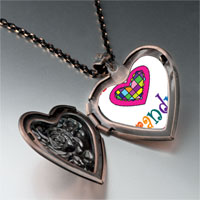 Necklace & Pendants - colorful grandma heart heart locket pendant necklace Image.