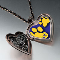 Necklace & Pendants - dog woof paw prints heart locket pendant necklace Image.