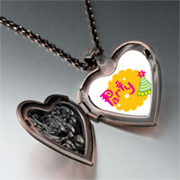 Necklace & Pendants - party celebration hat heart locket pendant necklace Image.