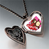 Necklace & Pendants - baby heart bear heart locket pendant necklace Image.