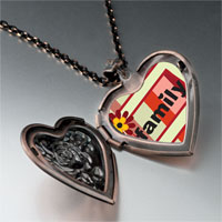Necklace & Pendants - family flower frame heart locket pendant necklace Image.