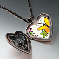 Necklace & Pendants - dream butterfly heart locket pendant necklace Image.