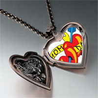 Necklace & Pendants - mom dad heart arrow heart locket pendant necklace Image.