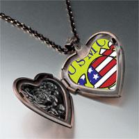 Necklace & Pendants - american usmc sailor heart locket pendant necklace Image.