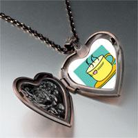 Necklace & Pendants - warm tea coffee heart locket pendant necklace Image.