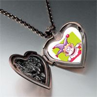 Necklace & Pendants - joker monkey heart locket pendant necklace Image.