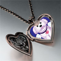 Necklace & Pendants - white dog heaven heart locket pendant necklace Image.