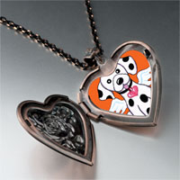 Necklace & Pendants - dalmatian dog heaven heart locket pendant necklace Image.