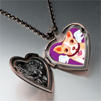 Necklace & Pendants - chihuahua dog heaven heart locket pendant necklace Image.