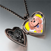 Necklace & Pendants - brown dog heaven heart locket pendant necklace Image.