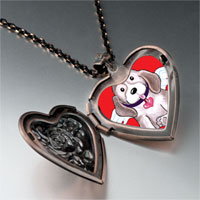 Necklace & Pendants - dog heaven heart locket pendant necklace Image.