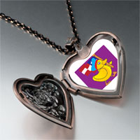 Necklace & Pendants - american duck walking heart locket pendant necklace Image.