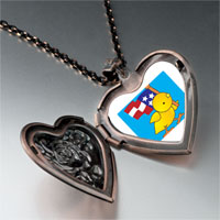 Necklace & Pendants - cute duck american flag heart locket pendant necklace Image.