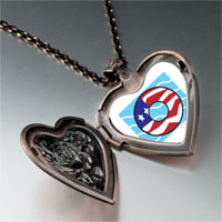 Necklace & Pendants - american flag donut heart locket pendant necklace Image.
