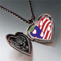 Necklace & Pendants - american flag hearts heart locket pendant necklace Image.