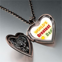 Necklace & Pendants - world' s greatest dad heart locket pendant necklace Image.