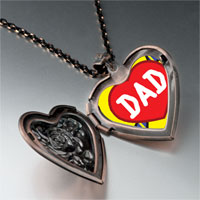 Necklace & Pendants - love dad heart locket pendant necklace Image.