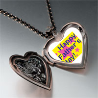 Necklace & Pendants - happy father' s day star heart locket pendant necklace Image.