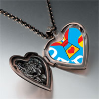 Necklace & Pendants - dad balloons heart locket pendant necklace Image.