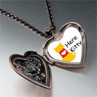 Necklace & Pendants - here kitty heart heart locket pendant necklace Image.