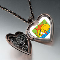 Necklace & Pendants - cool cat heart locket pendant necklace Image.