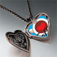 Necklace & Pendants - heart coffee heart locket pendant necklace Image.