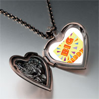 Necklace & Pendants - big daddy heart locket pendant necklace Image.