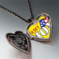 Necklace & Pendants - american army heart locket pendant necklace Image.