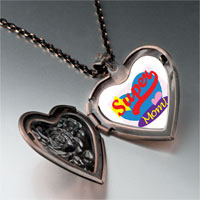 Necklace & Pendants - super mom heart heart locket pendant necklace Image.