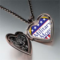 Necklace & Pendants - american military heart locket pendant necklace Image.