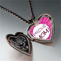 Necklace & Pendants - pink proud heart locket pendant necklace Image.