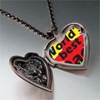 Necklace & Pendants - world' s best dad heart locket pendant necklace Image.