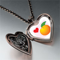Necklace & Pendants - heart orange heart locket pendant necklace Image.