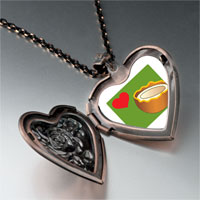 Necklace & Pendants - heart coconut heart locket pendant necklace Image.