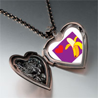 Necklace & Pendants - heart banana heart locket pendant necklace Image.