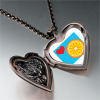 Necklace & Pendants - heart orange slice heart locket pendant necklace Image.